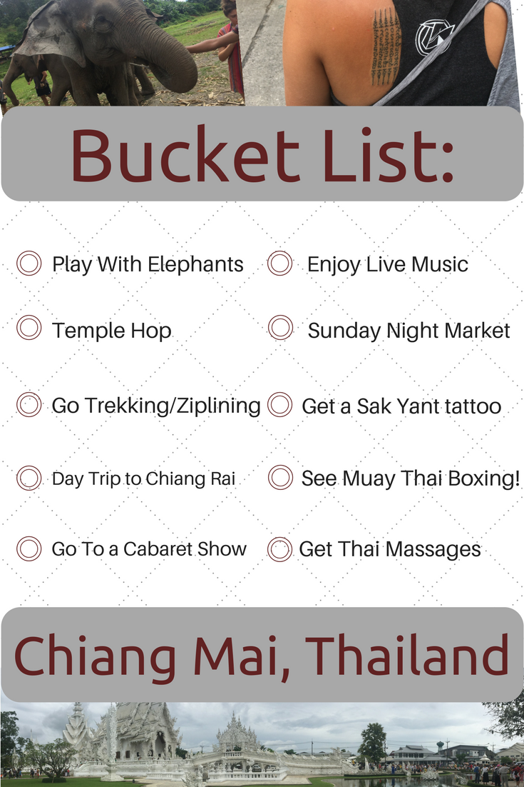things to do in chiang mai bucket list
