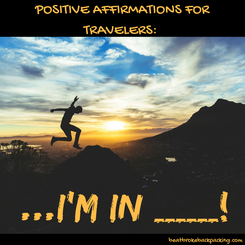 positive affirmations for travelers
