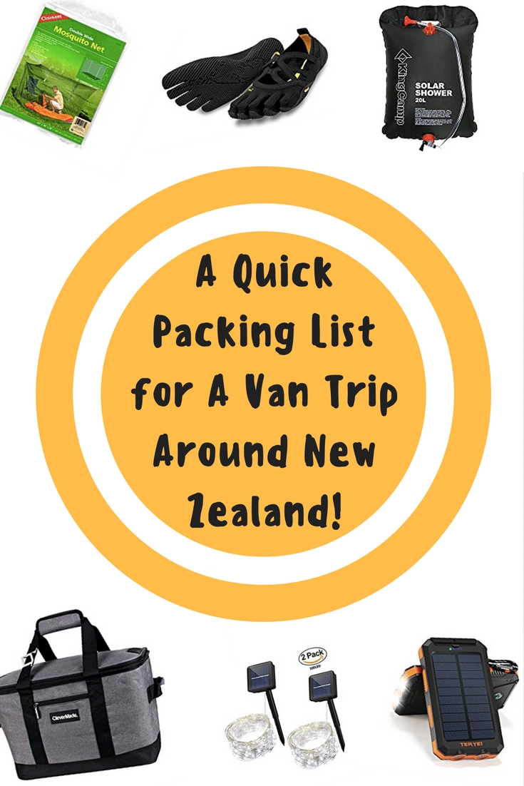 A Quick Packing List for A Van Trip Around New Zealand!